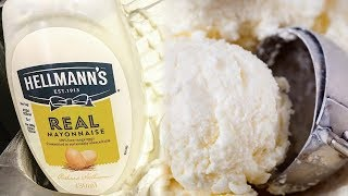 Mayonnaise-Flavored Ice Cream Exists?!