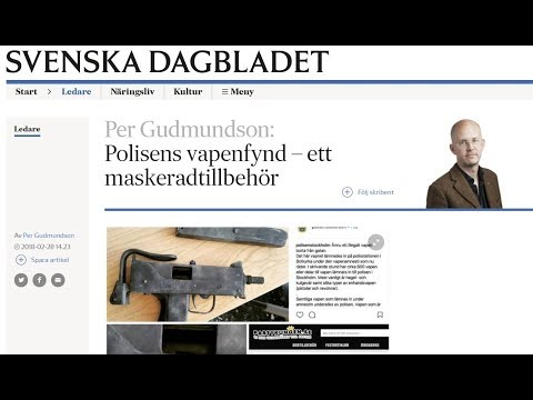 More about the gun amnesty bs in Sweden.