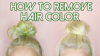 How To: Remove Hair Color/Stripping for Stained Hair - Blue, Green + Red | by tashaleelyn
