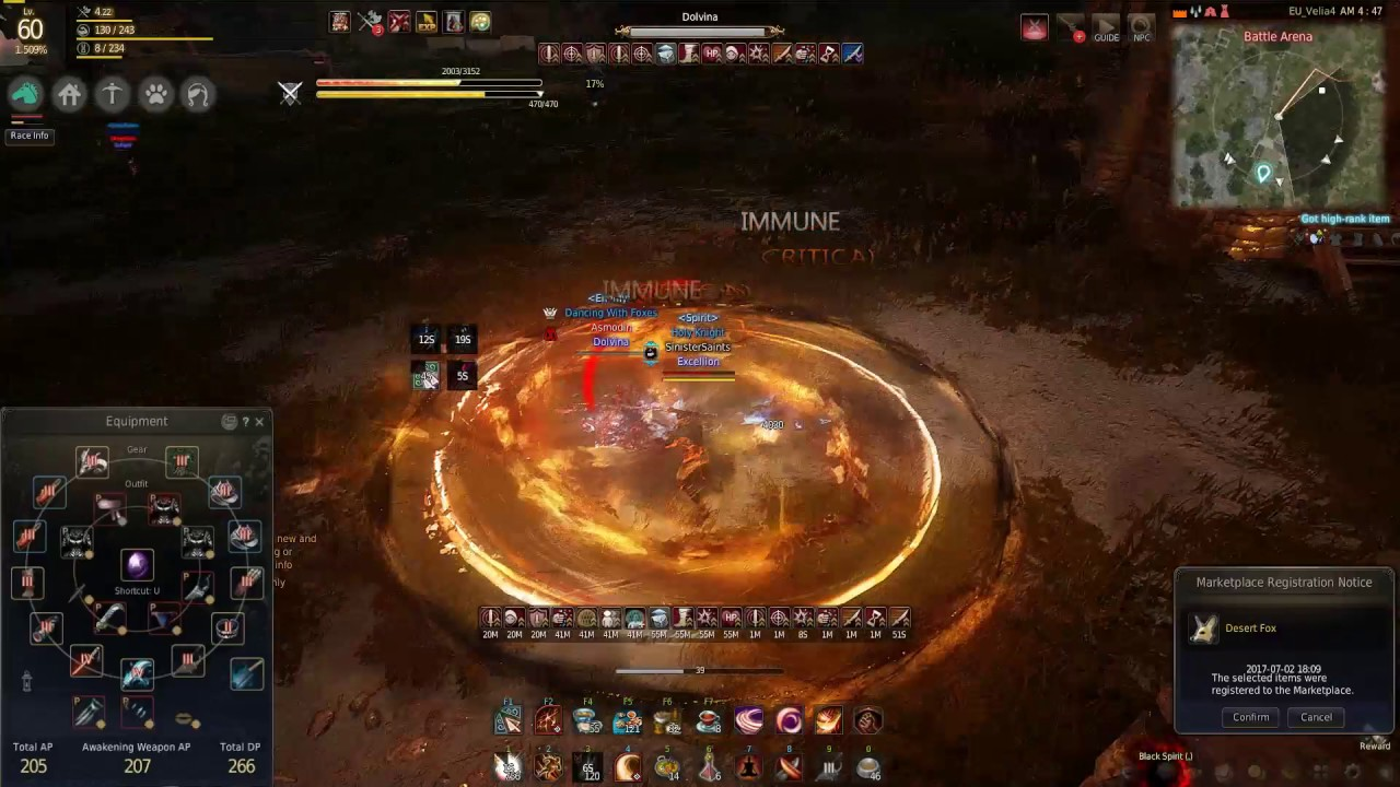 Black Desert - How does it feel to fight a 530 GS Maehwa?   Musa vs Maehwa