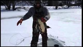 Shocking ice fishing video from Pennsylvania!