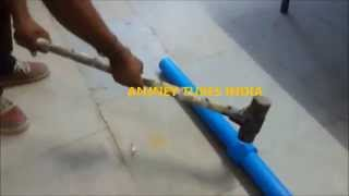 ANJNEY PPCH FR V2 PNUEMATIC PIPE SOCKET FUSION WELDING STRENGTH TEST JOINT STRENGTH TEST BY HAMMERIN