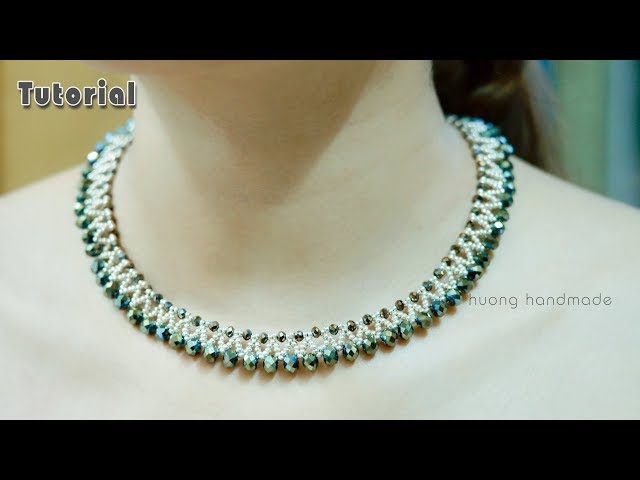 Party wear beautiful beaded necklace || Jewelry making || Diy easy
