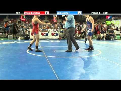 Junior 182 - Dylan Blackford (Iowa) vs. Will Sumner (California)