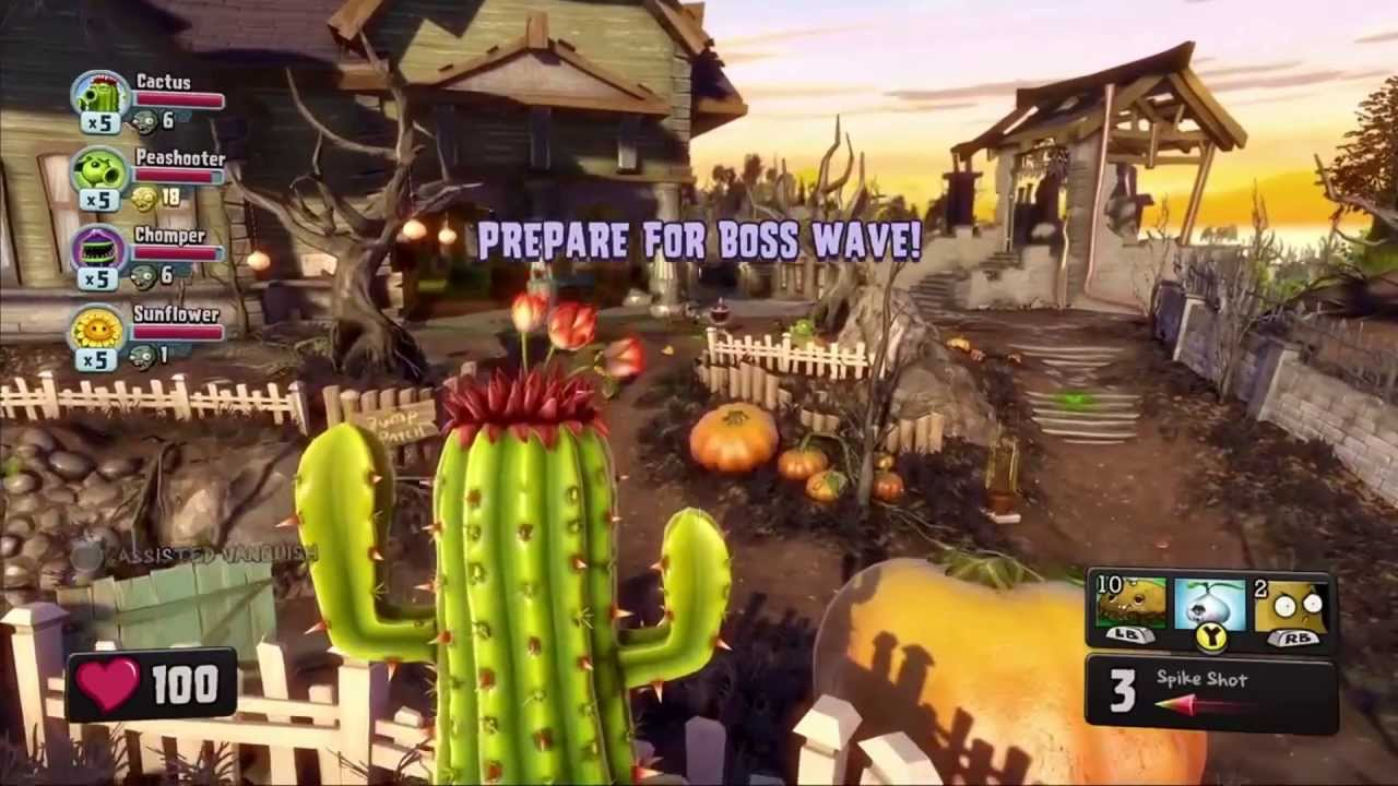 E3 2013 Plants Vs Zombies Garden Warfare Gameplay Hd Xbox One Ps4 Walthrough Youtube