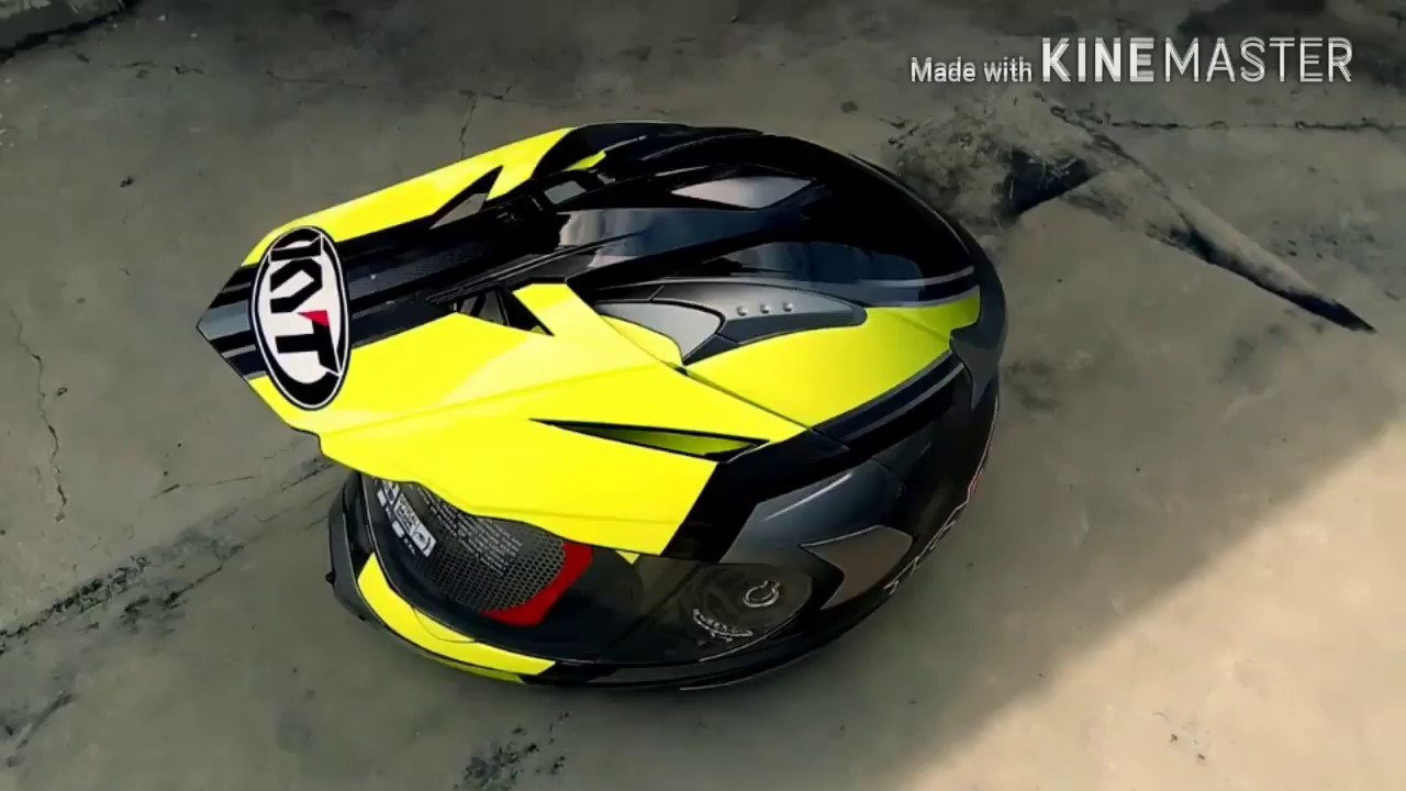 Unboxing Helm Fullface Kyt Supermoto Enduro Series Youtube Mds Super Moto Motif
