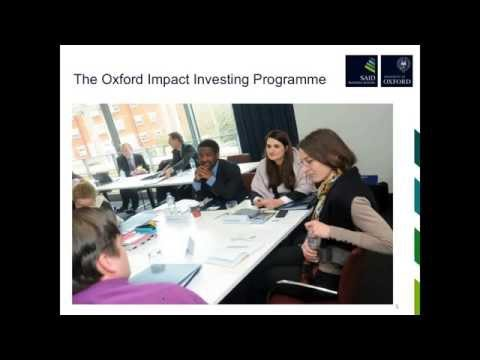 Pay for Success - Social and Development Impact Bonds: Oxford Impact Investing Insights Series