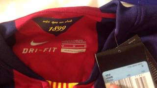 """A video i made after seeing lot of posts on /r/barca regarding the new home kit, where to get it and what qualities were like. so here is short """"walk..."""