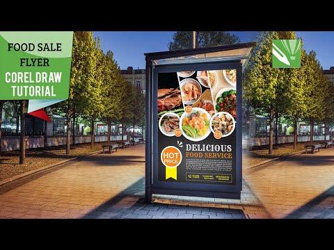 CorelDraw 2020 - Food sale flyer template in coreldraw software