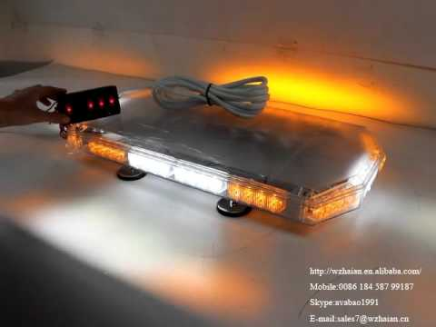 810 1c4 Amber White Led Mini Lightbar With Take Down Alley
