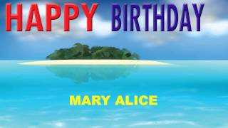 MaryAlice   Card Tarjeta - Happy Birthday