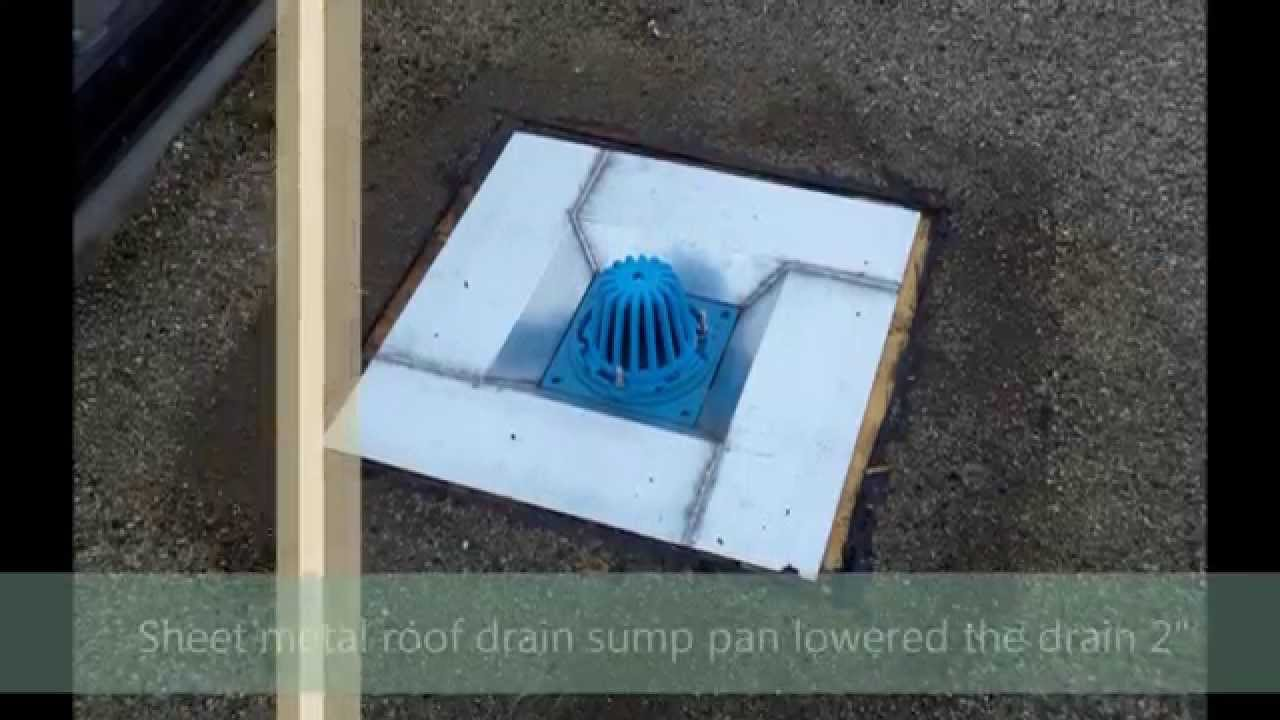 13 Roof Drains How To Sump An 8 1 2 Quot Frank Pattern Roof