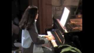 Isabel 13, after 11 lessons plays Ivan Sings by Katchaturian
