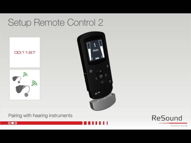Setting up your ReSound Unite Remote Control 2