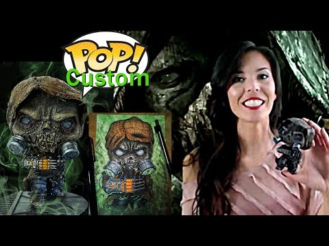 Custom Funko Pop Scarecrow (DIY -ed Sculpted + painted Vinyl Figure ) - Batman Arkham Knights -