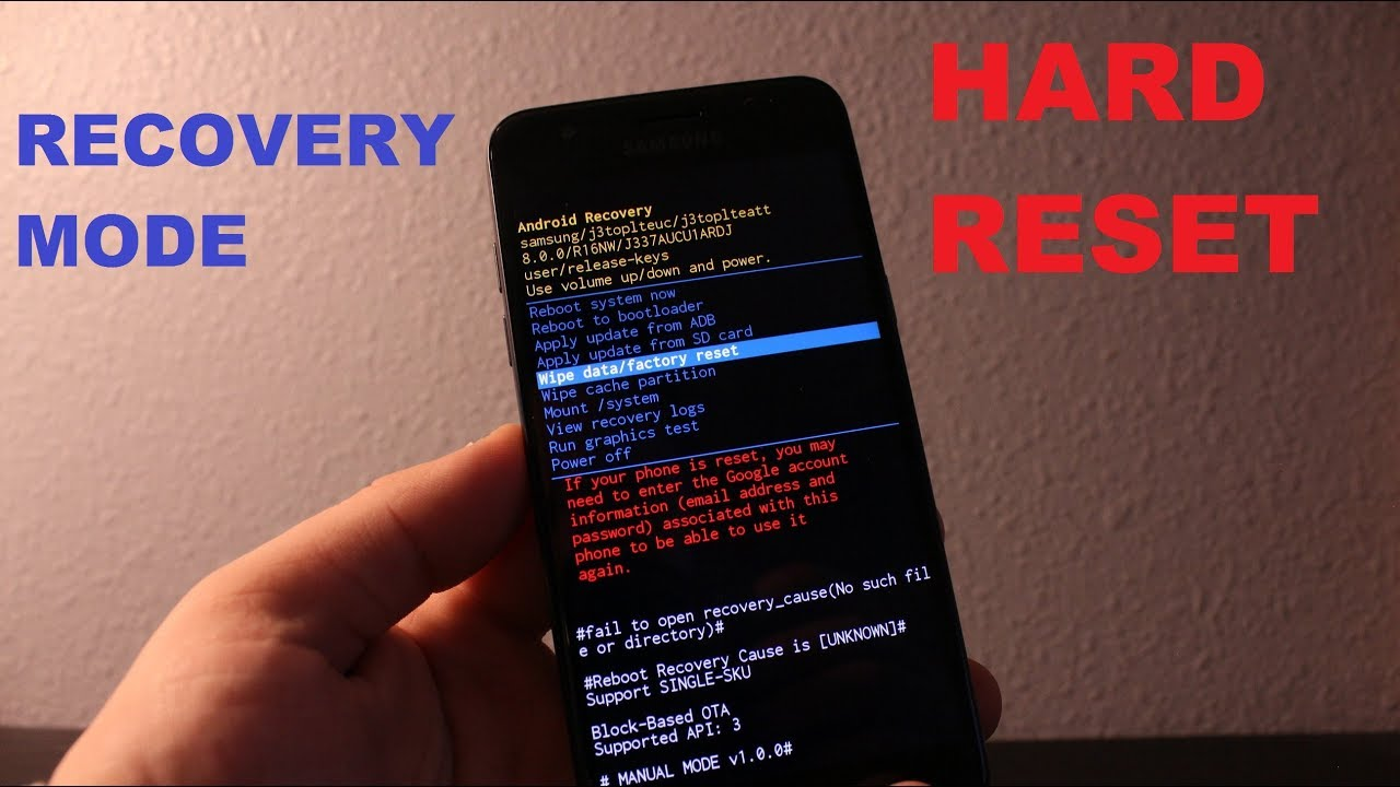 Samsung Express Prime 3 Recovery mode and hard reset