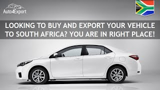 Shipping cars from USA to South Africa - Auto4Export