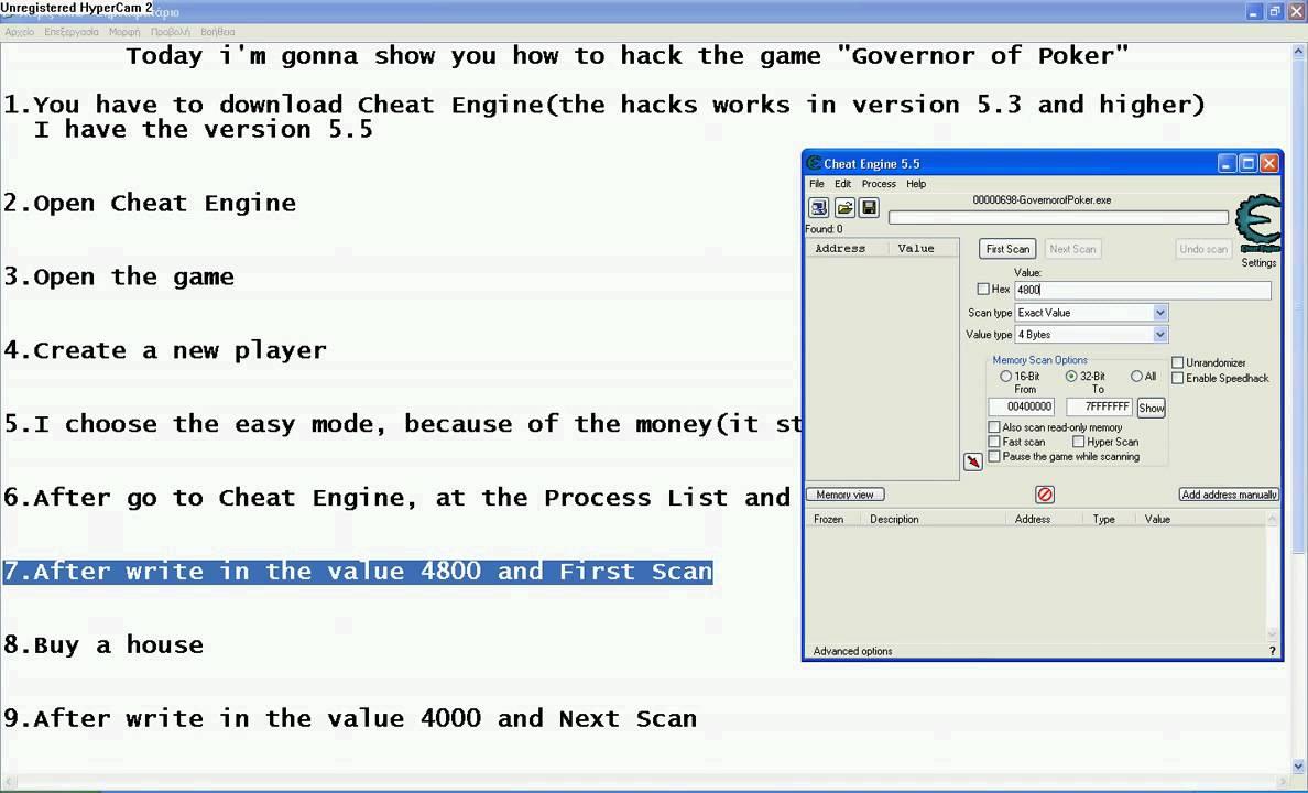 Governor of poker - Money hack - YouTube