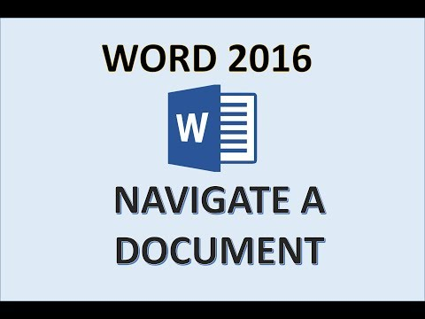 Word 2016 - Open And Move Around In Documents