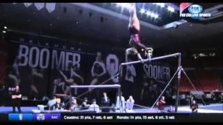 Nicole Lehrmann (Oklahoma) 2016 Bars vs West Virginia 9.875
