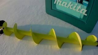 Зимняя рыбалка на карьере! Тест шуруповерта MAKITA