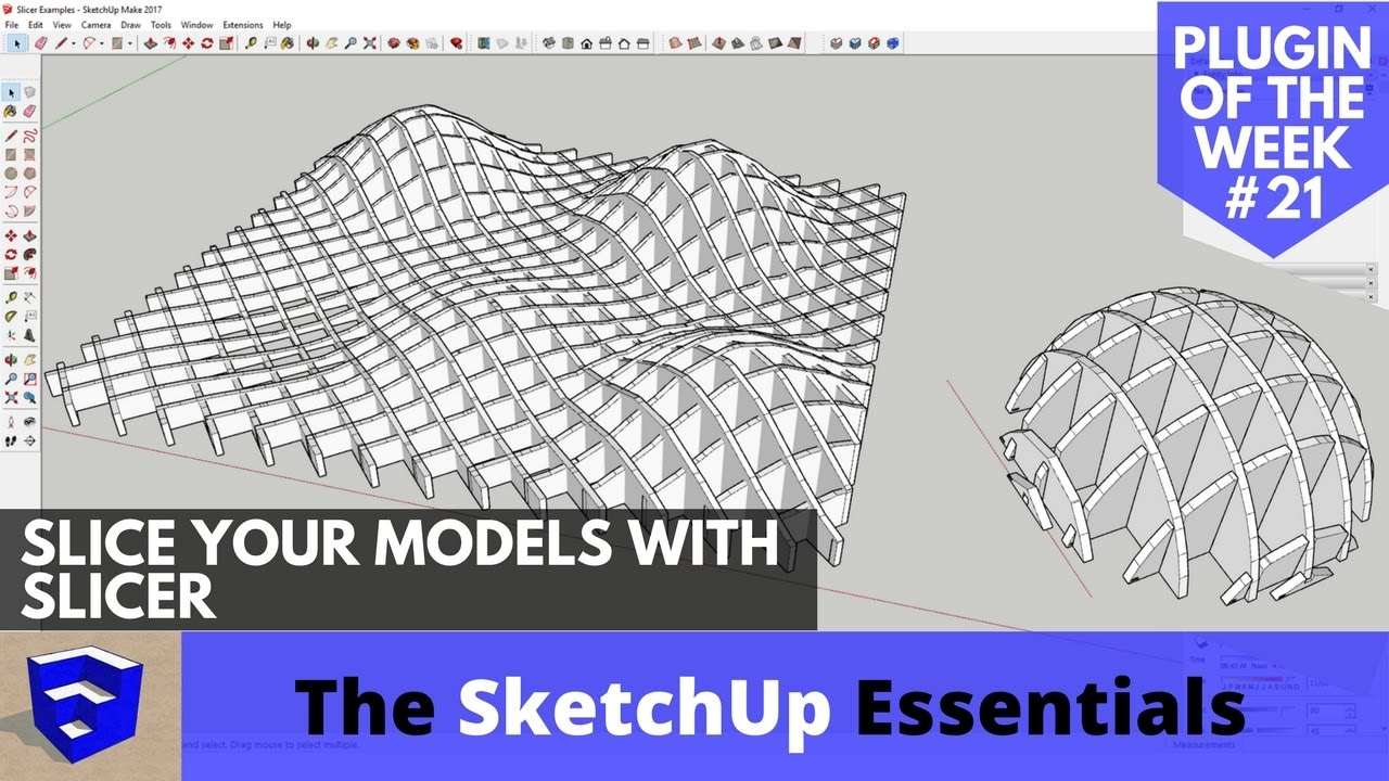 Slicing Your SketchUp Models with Slicer - SketchUp Extension of the Week  #21