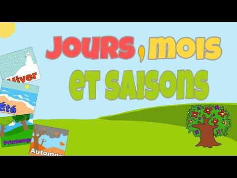 Download Les jours,les mois,les quatre saisons en français