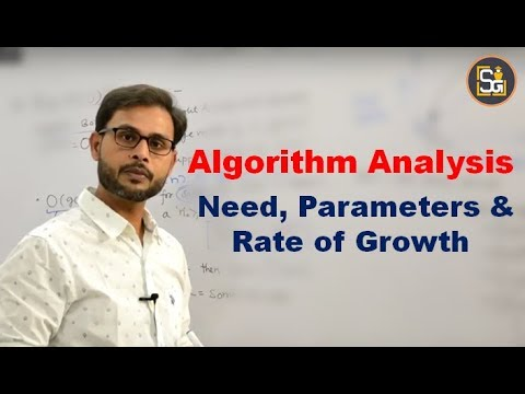 Algorithms Analysis Need | Parameters Of Analysis |Algorithms  Rate Of Growth