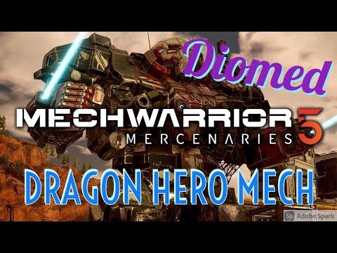 Mechwarrior 5 Hero's of the Inner Sphere   Dragon Hero Mech |
