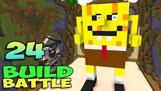 ч.24 Minecraft Build Battle - Спанч Боб и Весёлый Вагон