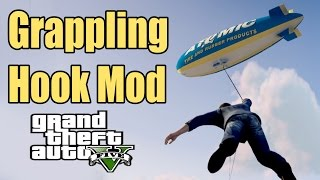 Just Cause Grappling Hook in GTA V PC Mod Funny Moments 60FPS