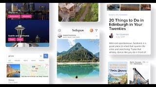 Trippo travel inspiration using screenshots