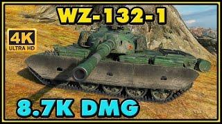 World of Tanks | WZ-132-1 - 8 Kills - 8,7K Damage - 1 VS 4 Gameplay
