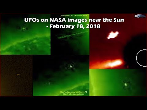 UFOs On NASA Images Near The Sun - February 18, 2018 (НЛО возле Солнца)