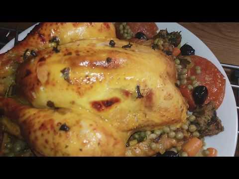 recette-de-poulet-farci-viande-hachée-,-cuisine-maliya,دجاج-محشي-باللحم-المفروم