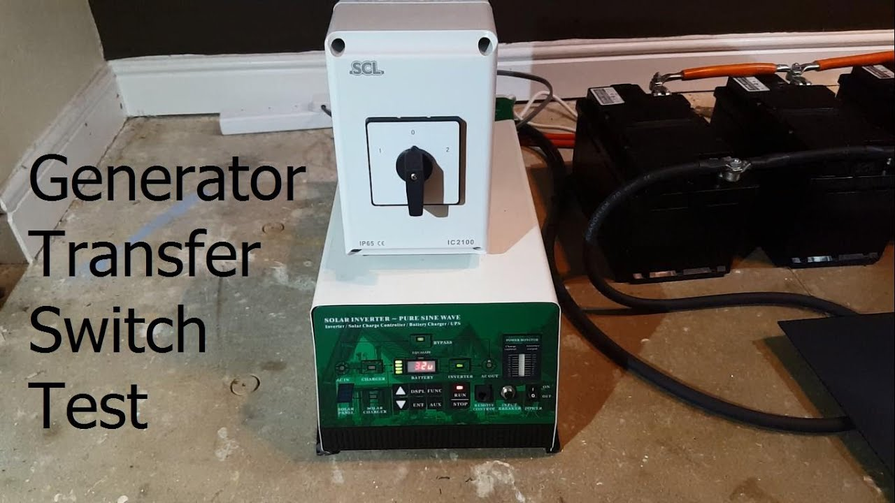 Generator Transfer    Changeover Switch Test Load For Off