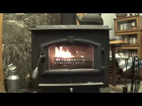Burning Pellets in a Wood Stove with an Ammo Can