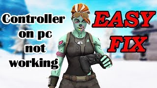 PS4 Xbox Controller not working on PC Easy Fix Fortnite