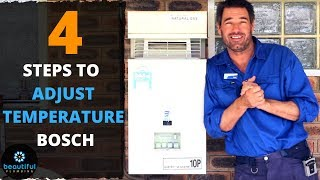 How to Adjust Temperature of Bosch Hot Water System