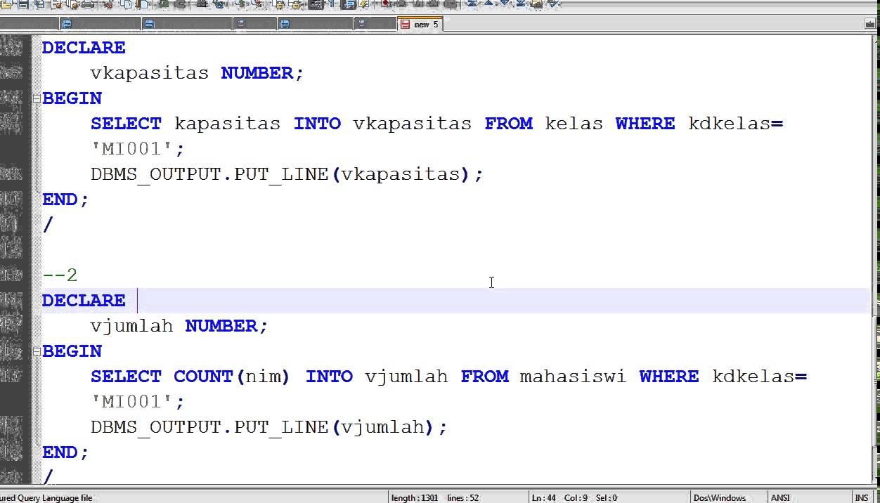 Oracle PLSQL Implicit Cursor (Select, Insert, Update)