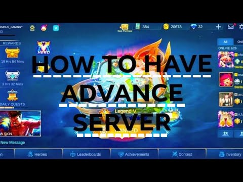 HOW TO HAVE ADVANCE SERVER ON MOBILE LEGEND - PAANO MAGKAROON NG ADVANCE SERVER SA MOBILE LEGEND