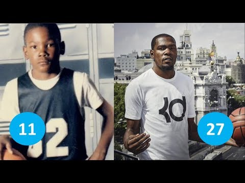 Kevin Durant before and after | From 1 to 28 years old