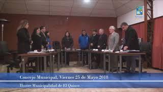 Concejo Municipal Viernes 25 de Mayo 2018