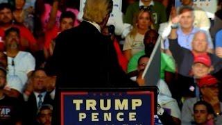 Ex-Congressman Foley Sits Behind Trump At Rally