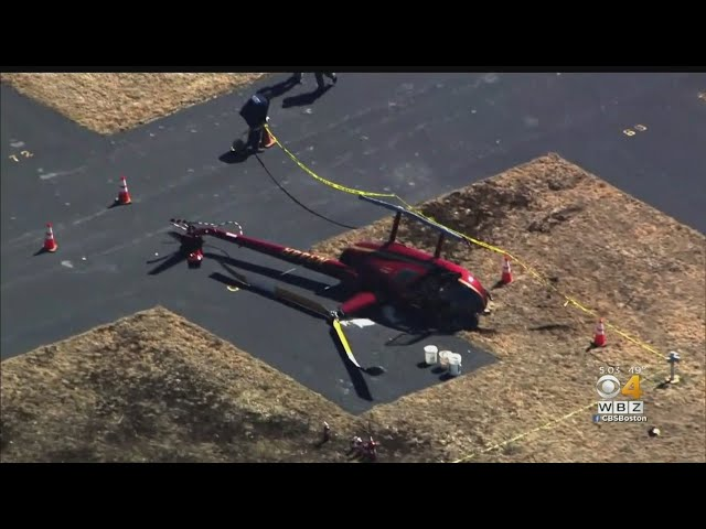 Helicopter Crashes At Taunton Airport