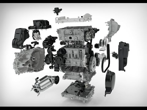All New 2017 Volvo Drive-E 3 Cylinder Petrol Engine Technology Animation