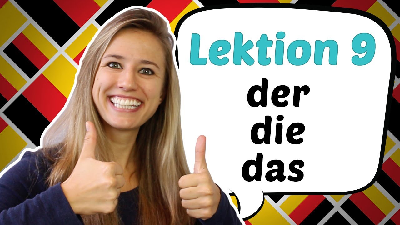 german lesson 9 the german definite articles der die das youtube. Black Bedroom Furniture Sets. Home Design Ideas
