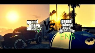 GTA V Vs GTA SA With Graphics Mods (xbox 360 And Ps3 Vs PC)