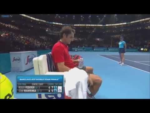 Watch Roger Federer Save 4 Match Points Vs. Wawrinka In London