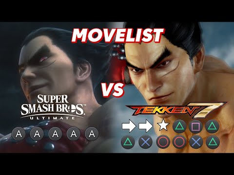 Kazuya Mishima Movelist Comparison - Smash Ultimate vs. Tekken 7  